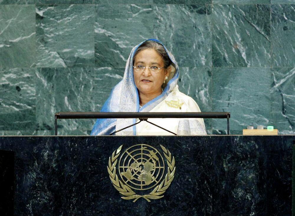 A premiê do Bangladesh Sheikh Hasina
