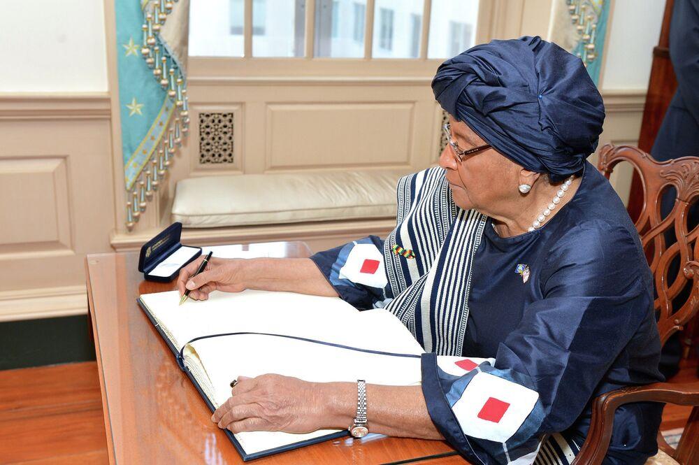 Presidente da Libéria, Ellen Johnson Sirleaf