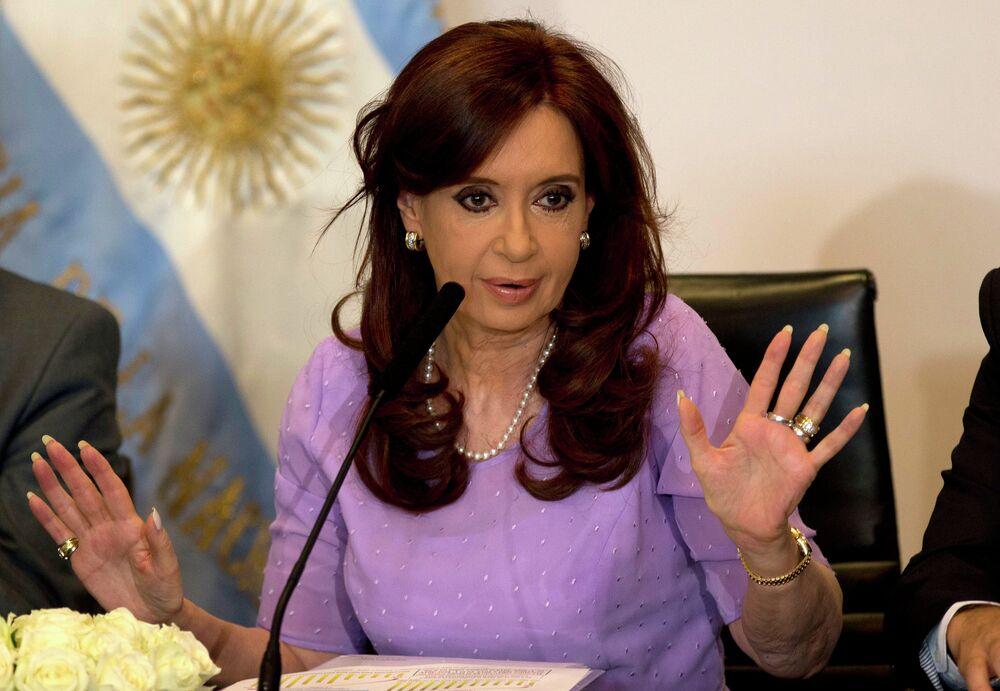 A presidente da Argentina, Christina Fernandez de Kirchner