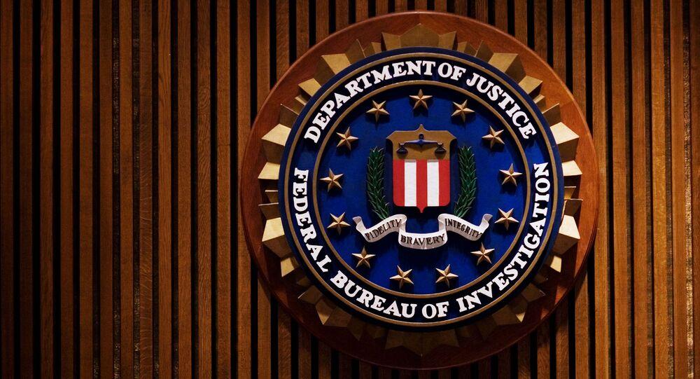 Símbolo do FBI no edifício J. Edgar Hoover, em Washington, DC.