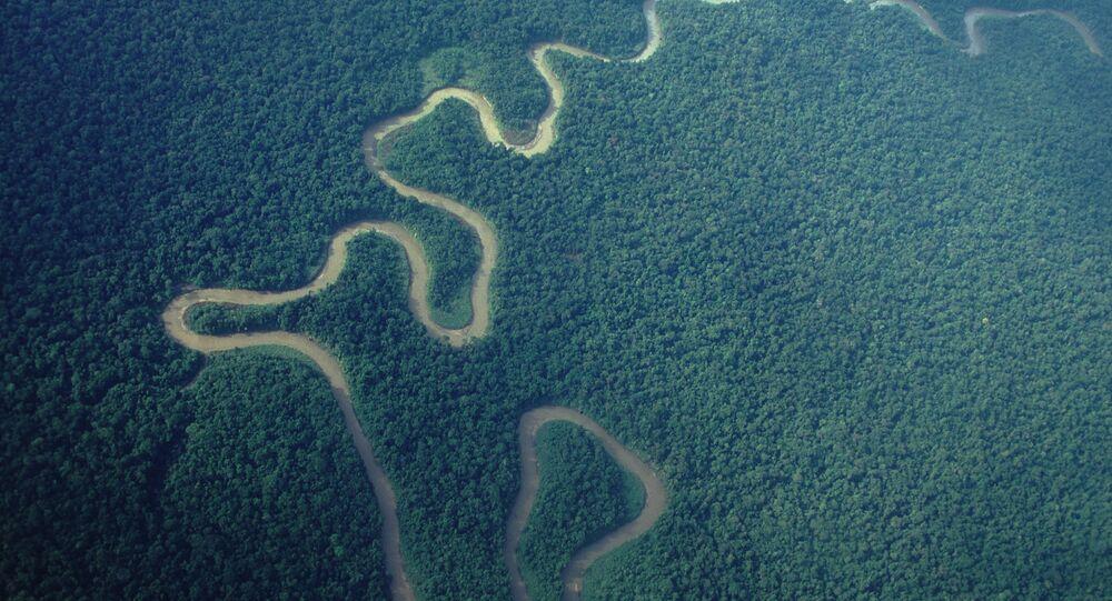 Vista aérea da Papua-Nova Guiné (arquivo)