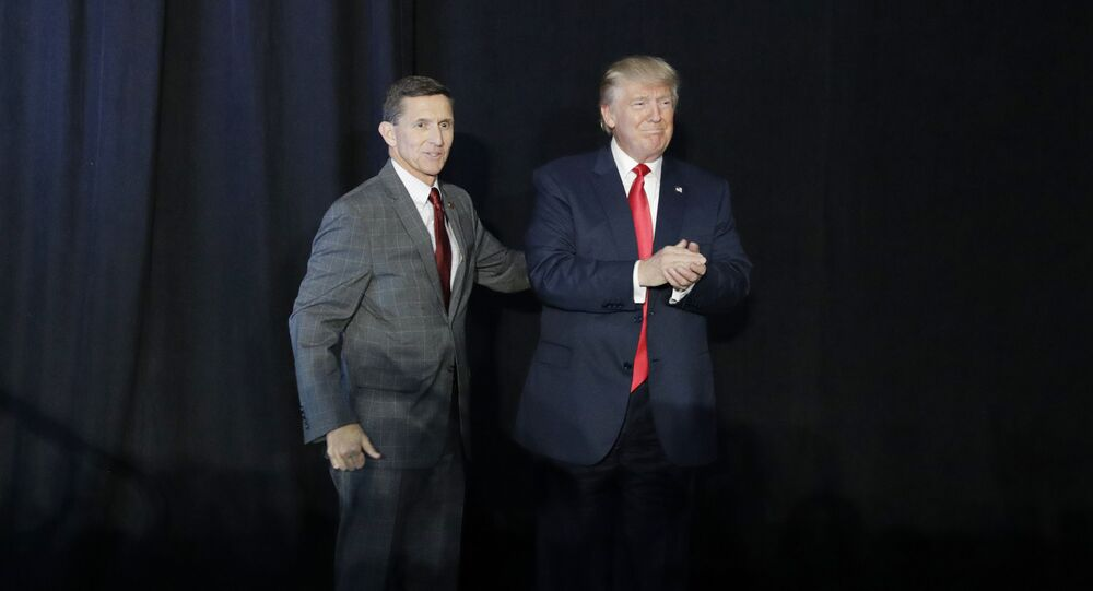 Tenente-general Michael Flynn e Donald Trump