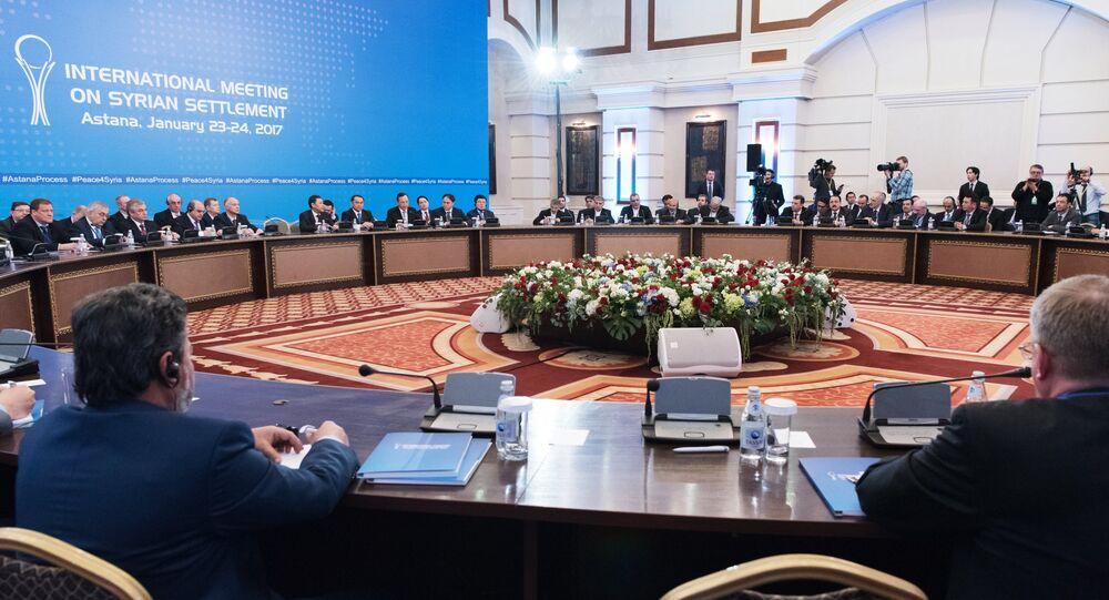 Negociações sobre resolução da crise síria em Astana (Cazaquistão)