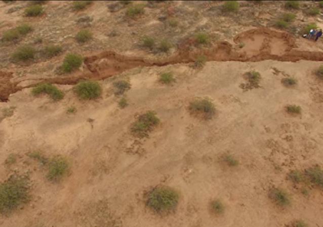 Fratura gigante no estado do Arizona, nos EUA