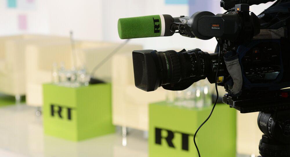 Estúdio do canal russo RT