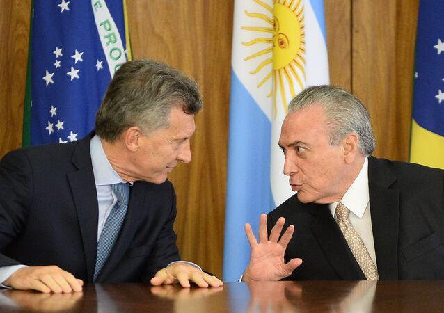 Macri faz primeira visita oficial ao Brasil