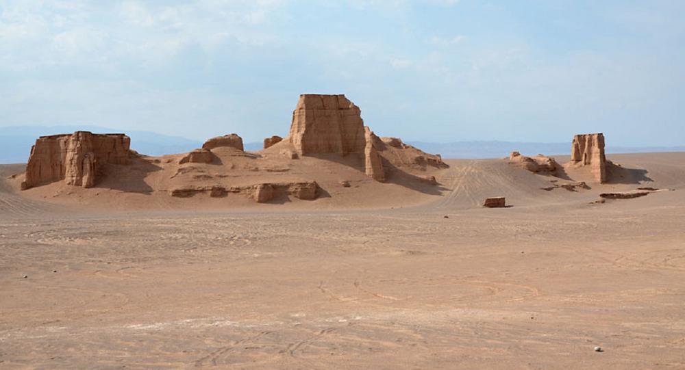 Deserto Dasht-e Lut, província de Kerman, no sudeste do Irã