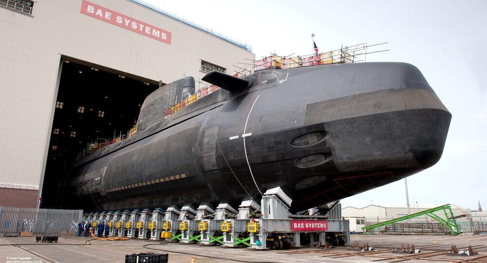 Submarino nuclear britânico da classe Astute, fabricado pela empresa BAE Systems (arquivo)