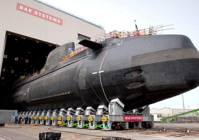 Submarino nuclear britânico da classe Astute, fabricado pela empresa BAE Systems