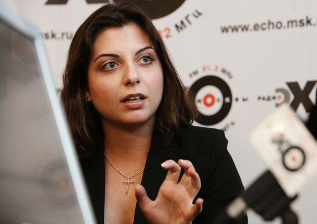 Editora-chefe da Sputnik e do RT Margarita Simonyan