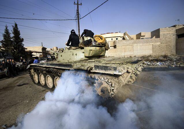 Tanque T-72 do exército iraquiano