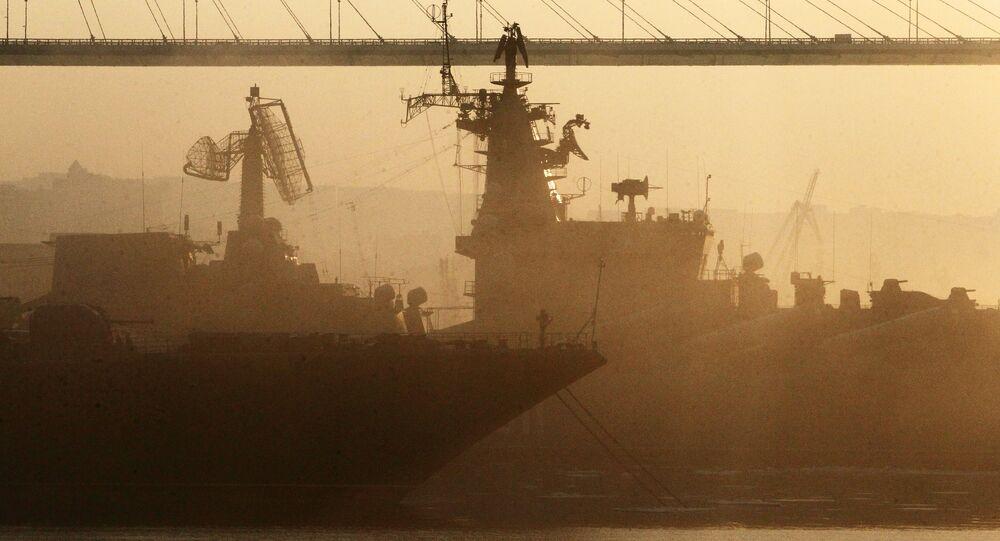 Navios da Frota do Pacífico da Marinha da Rússia em Vladivostok