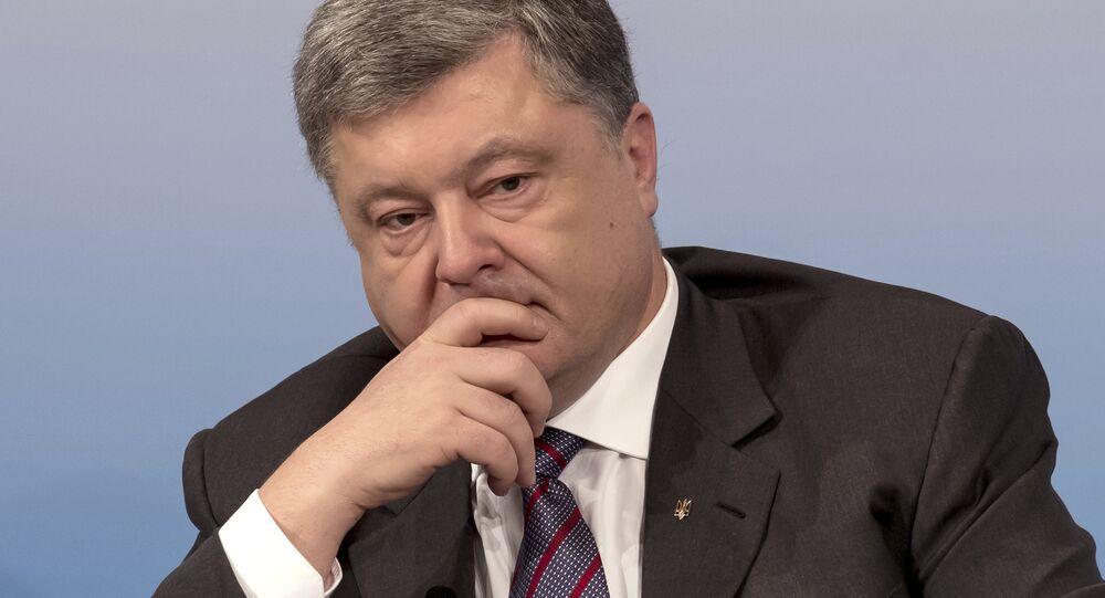 Presidente ucraniano, Pyotr Poroshenko, na Conferência de Segurança em Munique, Alemanha, 17 de fevereiro de 2017