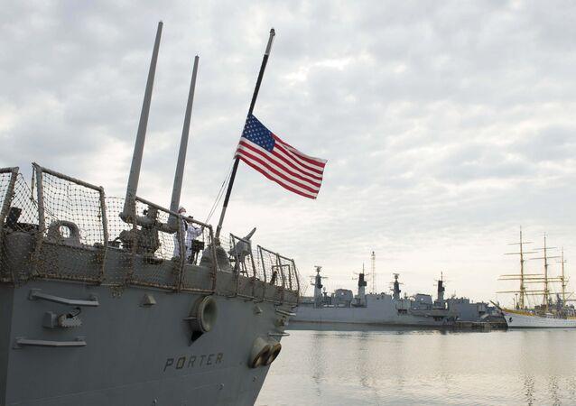 Destróier USS Porter da marinha dos EUA