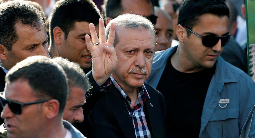 O presidente da Turquia Recep Tayyip Erdogan