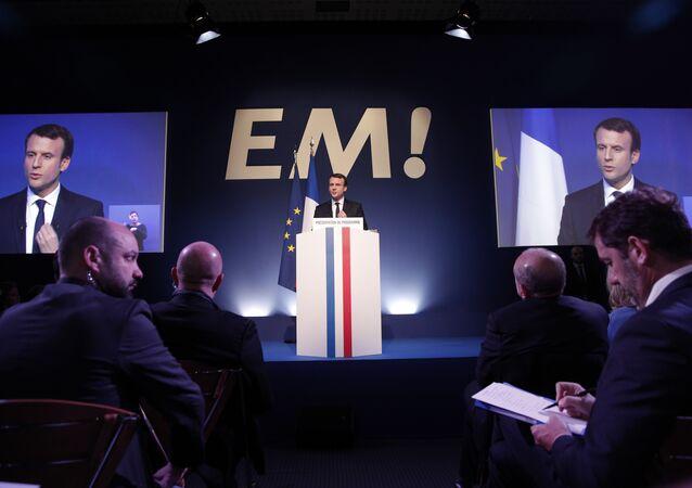 Emmanuel Macron, presidente da França pelo partido A República em Marcha