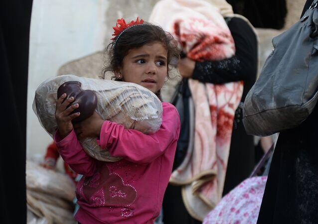 Distribuição de ajuda humanitária da Rússia à população da Síria
