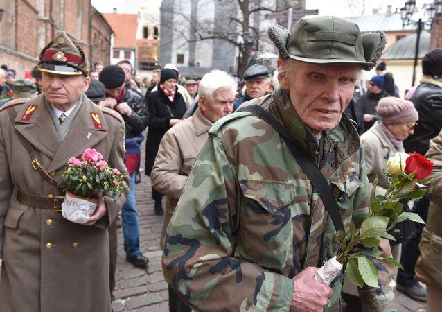 Marcha da legião letã da SS em 2017