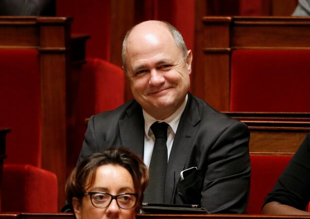 Bruno Le Roux, head of the Socialist group at the National Assembly, attends the start of a parliament debate on a constitutional reform bill that addresses the nationality question and would also make it easier to decree a state of emergency, at the National Assembly in Paris, France, February 5, 2016.