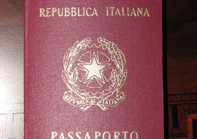 O passaporte da República Italiana