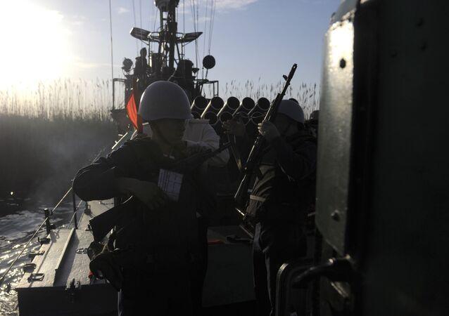 A inspeção final de inverno das unidades da Frota do Cáspio