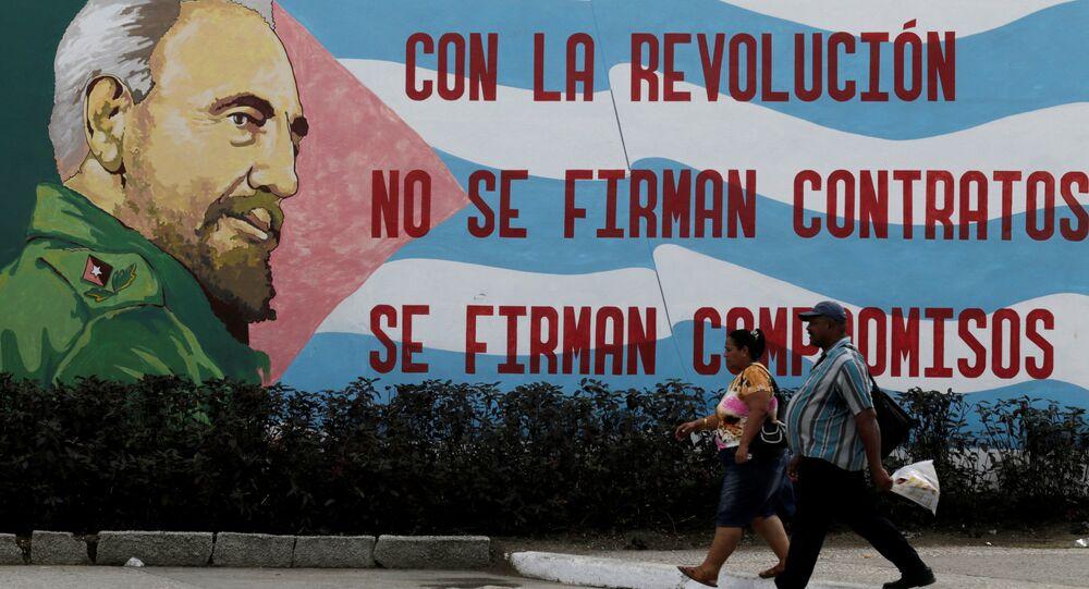 Grafite de Fidel Castro em Cuba