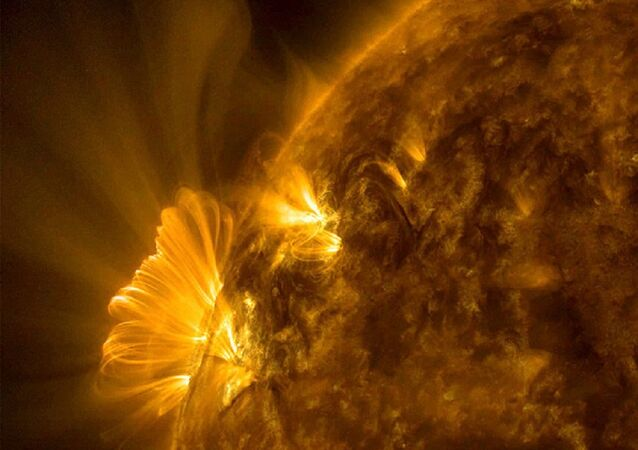 Uma erupção solar