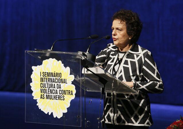 Eleonara Menicucci, ex-ministra da Secretaria de Políticas para Mulheres, durante evento no Instituto Ivo Herzog, em São Paulo (arquivo)
