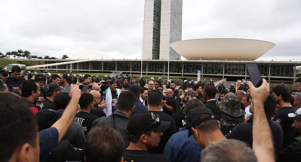 Protesto agentes penitenciários