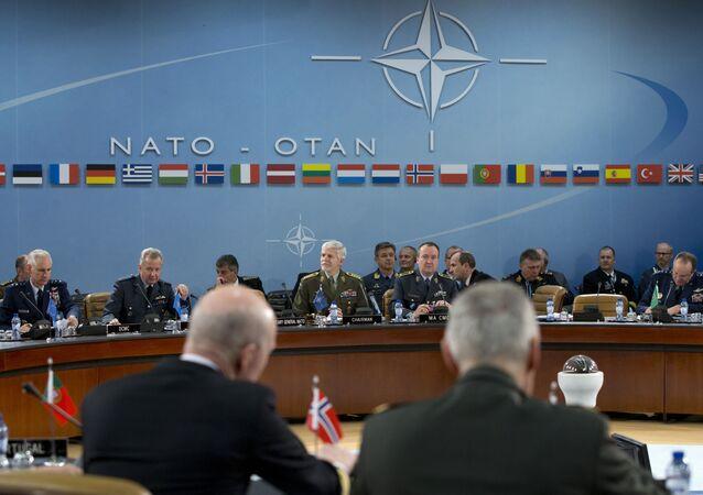 O presidente do Comitê Militar da OTAN, o general tcheco Petr Pavel, durante um encontro da organização em Bruxelas (arquivo)