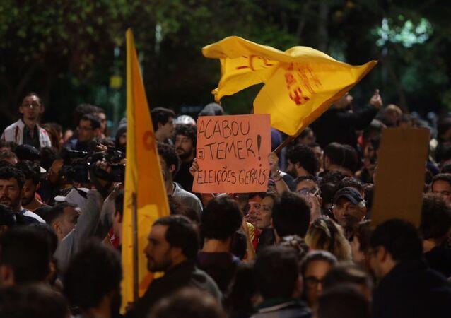 Protesto contra Temer