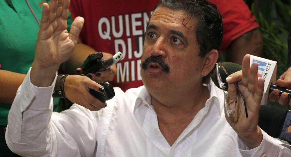 Ex-presidente de Honduras, Manuel Zelaya, em maio de 2009