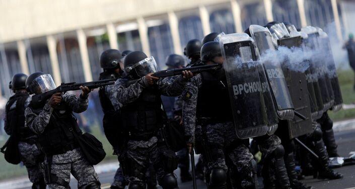 Brasília teve a segurança reforçada para o ato desta quarta-feira