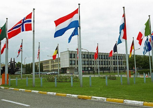 Sede da Organização do Tratado do Atlântico Norte (OTAN) em Bruxelas, na Bélgica (arquivo)