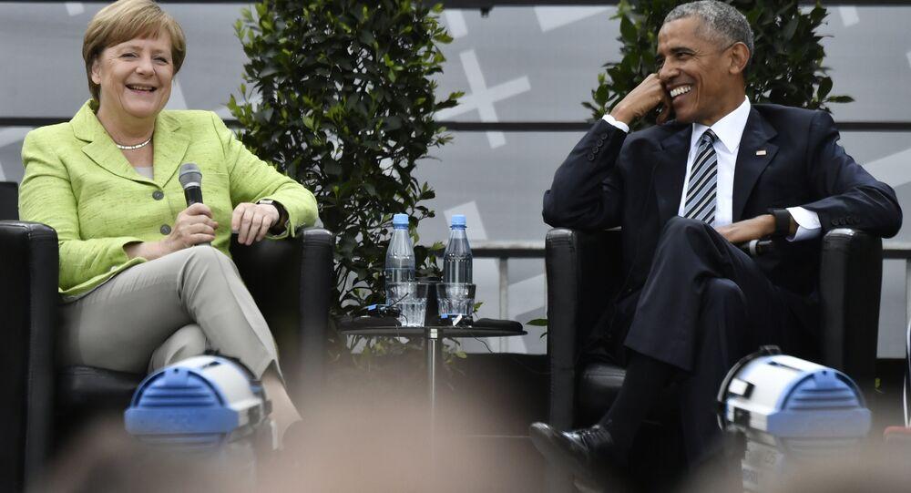 Barack Obama se encontrou com Angela Merkel durante as celebrações dos 500 anos da Reforma Protestante em Berlim, na Alemanha