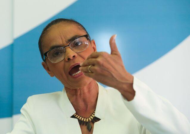 Ex-senadora e líder da Rede Sustentabilidade, Marina Silva