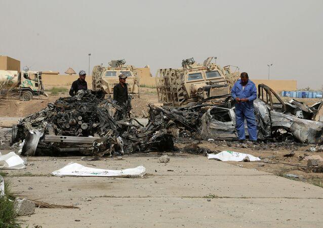 Explosão de carro-bomba no Iraque.