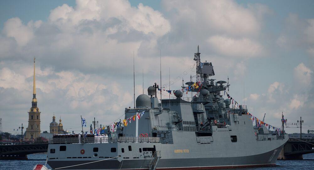 Fragata Admiral Essen, foto de arquivo
