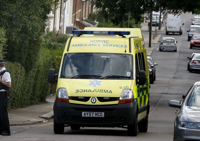 Ambulância no Reino Unido, em Londres