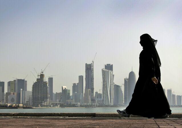 Una mujer catarí en Doha