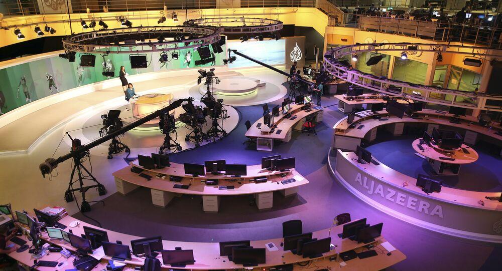 Estúdio da Al-Jazeera International em Doha, Qatar