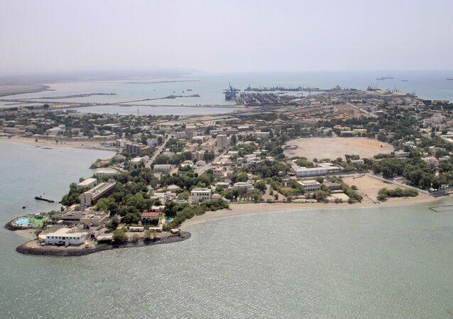Vista aérea do Djibuti