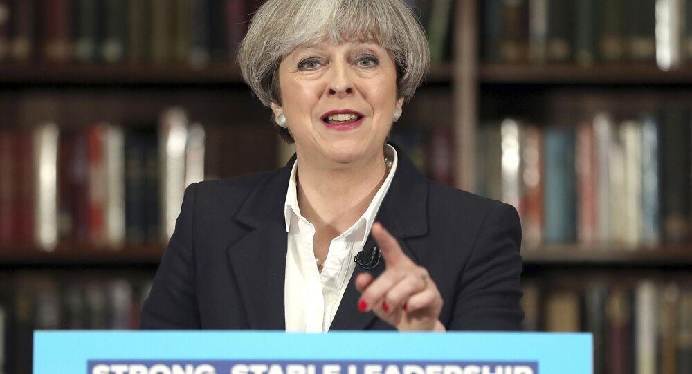 A premiê britânica,Theresa May