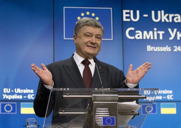 O presidente da Ucrânia Pyotr Poroshenko