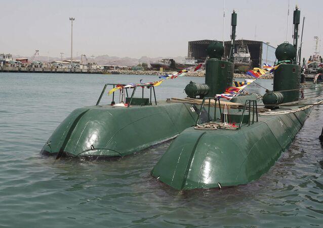 Submarino iraniano da classe Ghadir (foto de arquivo)