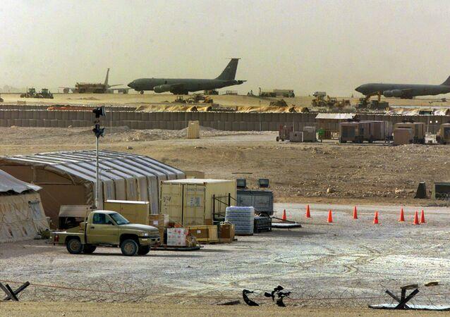 Al-Udeid, a base militar dos EUA no Qatar (foto de arquivo)