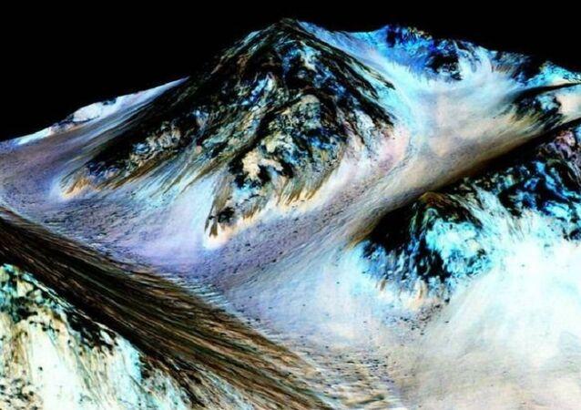 Fluxos da água em Marte