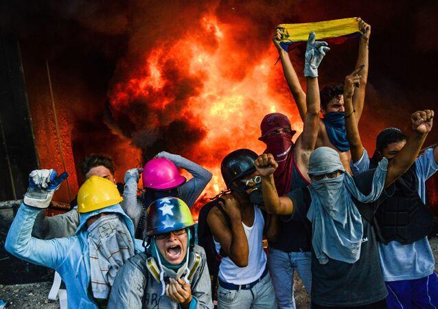 Protestos antigovernamentais na Venezuela