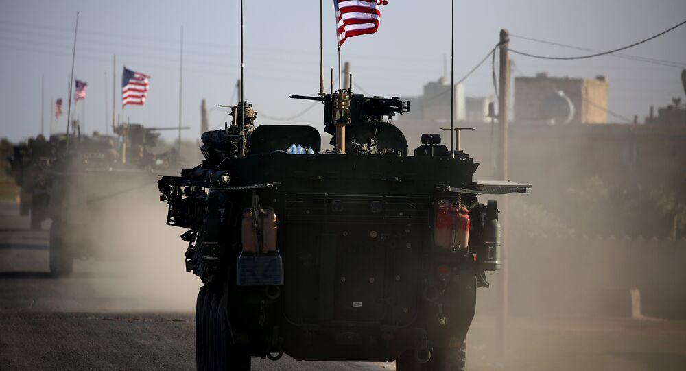 Forças dos EUA em Manbij, Síria (foto de arquivo)