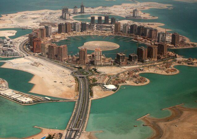Vista de Doha - capital do Qatar